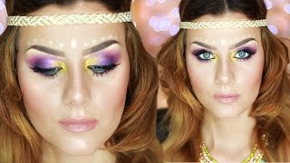 getlinkyoutube.com-Music Festival Makeup Tutorial HIPPIE CHIC | None Fashion and Beauty