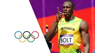 getlinkyoutube.com-Usain Bolt & Yohan Blake Win 100m Heats - London 2012 Olympics