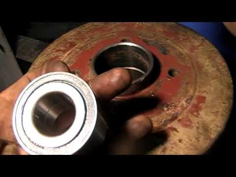 Рено Логан как поменять задний ступичный подшипник/Renault Logan Rear wheel bearing