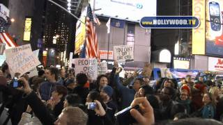 chanel-: Occupy Wall Street hits Times Square!