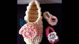 getlinkyoutube.com-FREE crochet pattern, BASIC BEGINNER SLIPPERS OR BOOTIES,  how to make slippers
