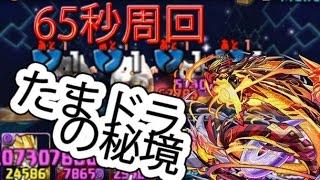 getlinkyoutube.com-【パズドラ】たまドラの秘境 ベジータPT+覚醒ヒノカグツチ 65秒周回