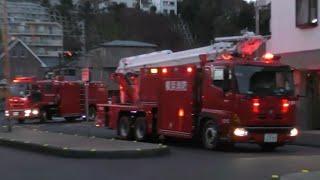【緊急走行】横浜消防 コンビナート火災に続々と到着する消防車両!