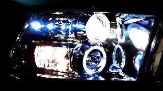 getlinkyoutube.com-Spec-D Tuning Dodge Ram Projector Headlights Installation