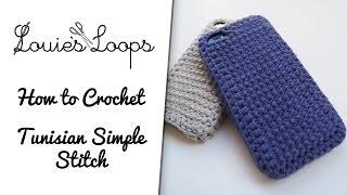 getlinkyoutube.com-How to crochet the Tunisian Simple Stitch
