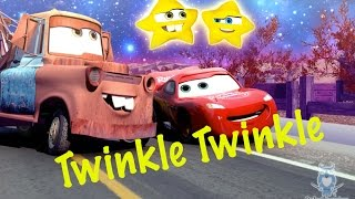 getlinkyoutube.com-Funny McQueen 🚗 and Mater Toys from CARS Sing Twinkle Twinkle Little Star | Kids Nursery Rhymes