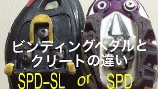 getlinkyoutube.com-シマノ【SPD】【SPD−SL】ビンディングペダルの違い