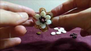 getlinkyoutube.com-Chinelo decorado: Flor de pedraria passo-a-passo