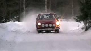 getlinkyoutube.com-Utrikesrundan del 1, Classic car winter rally on snow
