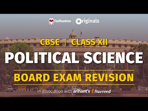CBSE Exams 2020   Political Science Revision   Class 12