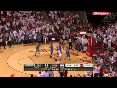NBA CIRCLE - Oklahoma City Thunder Vs Houston Rockets Game 3 Highlights 27 April 2013 NBA Playoffs