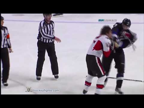 Mike Fisher vs Victor Hedman Apr 8, 2010
