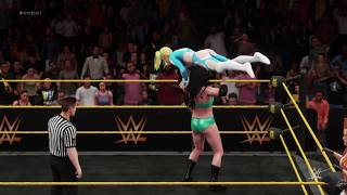 WWE 2K18 Rainbow Mika vs. Chyna and April Hunter - 2 Out Of 3 Falls
