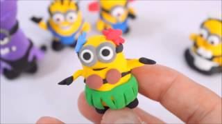 getlinkyoutube.com-Best of Minion Finger Family and Making Minion with Play Doh