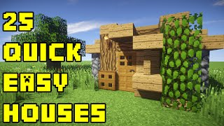 getlinkyoutube.com-Minecraft: 25 Quick and Easy House Tutorials Xbox/PC/PE/PS3