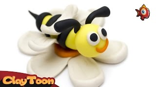 Busy bee - Polymer clay tutorial | نحلة - تشكيل صلصال للأطفال
