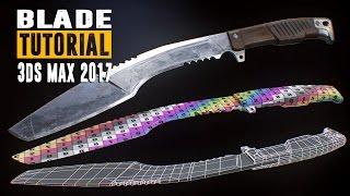 getlinkyoutube.com-Blade Tutorial - Part 1 - Modeling & UV Unwrapping - 3Ds Max 2017