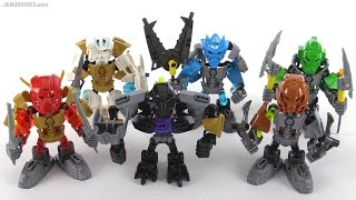 getlinkyoutube.com-LEGO Bionicle Toa Chibi team!  All six!