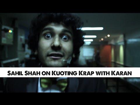 Sahil Shah On Koffee With Karan