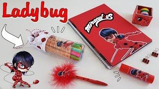 getlinkyoutube.com-DIY |5 ideias incríveis para fazer com material escolar | Ladybug