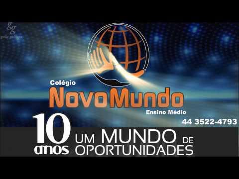 Logo Marca do Colégio Novo Mundo Animada