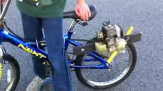 getlinkyoutube.com-Leaf Blower Engine Bike