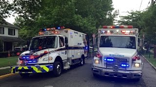 getlinkyoutube.com-Teaneck Ambulance Compilation #1 (AIR HORN, POWERCALL, Q-SIREN) HAPPY 4TH OF JULY