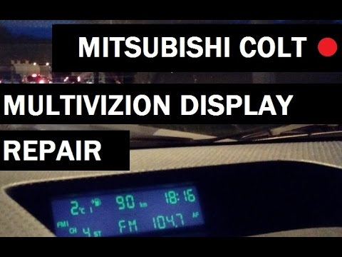 Mitsubishi Сolt fault electronics error U1108 repair on-Board computer