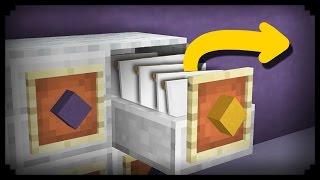 getlinkyoutube.com-✔ Minecraft: How to make a Working Filing Cabinet