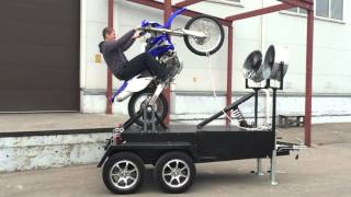 getlinkyoutube.com-Yamaha WR 450 wheelie machine stuntex