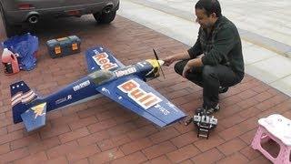 getlinkyoutube.com-RC Nitro Plane My 6 year old Edge 540 Redbull Nitro Plane
