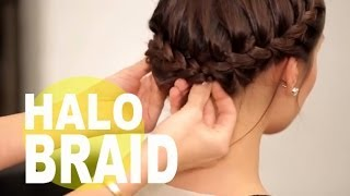 getlinkyoutube.com-The Perfect Halo Braid for Short Hair | NewBeauty Tips and Tutorials