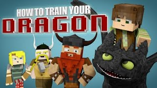 getlinkyoutube.com-Minecraft Parody - HOW TO TRAIN YOUR DRAGON! - (Minecraft Animation)
