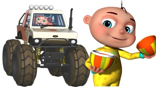 getlinkyoutube.com-Five Little Babies Driving Monster Cars | Learn fruits For Kids | Five Little Babies Collection