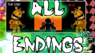 getlinkyoutube.com-FNAF World ALL ENDINGS - Normal/BAD/GOOD/True ending/Clock/CHIPPER'S/Universe [Huge Spoiler]