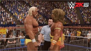 getlinkyoutube.com-WWE 2K15 - Ultimate Warrior vs. Hulk Hogan - WWE Championship - Wrestlemania VI  - POTW Part 3