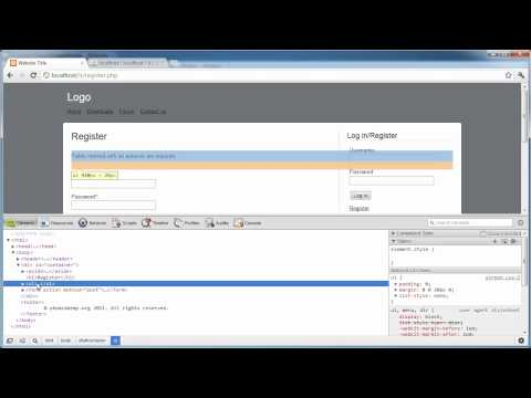 PHP Tutorials: Register & Login (Part 10): Registration Form and Validation (Part 5)