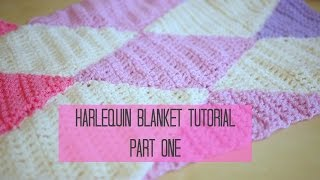 getlinkyoutube.com-CROCHET: Harlequin / Diamond blanket part 1 | Bella Coco