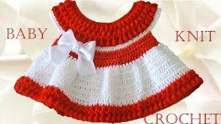 getlinkyoutube.com-Vestido a crochet para Bebe - Learn Crochet Knit