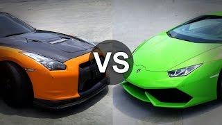 getlinkyoutube.com-Lamborghini Huracan Vs Nissan GTR Drag Race - DRAGINFO