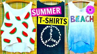 getlinkyoutube.com-DIY Clothes | Easy No Sew T-shirt Ideas Inspired by Tumblr