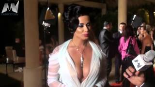 getlinkyoutube.com-SEXY IRAQI ACTRESS Joanna Karim @ Murex d'or 2012 !