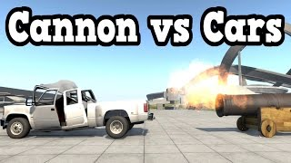 getlinkyoutube.com-BeamNG Drive - Old Cannon vs Cars