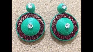 getlinkyoutube.com-Quilling Earrings Elegant