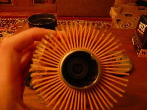 Масляный фильтр Wix WL 7067 изнутри.(Новый)