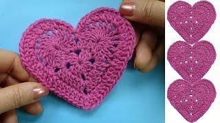 getlinkyoutube.com-Как вязать валентинку How to crochet heart
