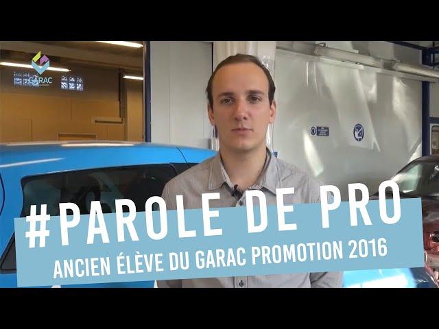 Alexis Leroy ancien élève GARAC Promotion BTS AVA 2016 - Licence MTSP 3EV