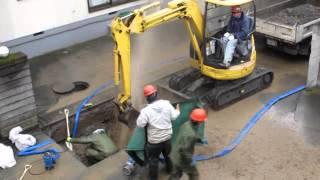 getlinkyoutube.com-水道工事で大変な状況