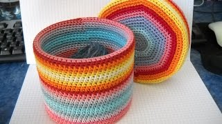 getlinkyoutube.com-Crochet a Colourful Round Box - DIY Crafts - Guidecentral