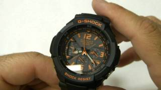 getlinkyoutube.com-Review of the Casio G-Shock GW-3000B-1A  Aviator Watch in HD